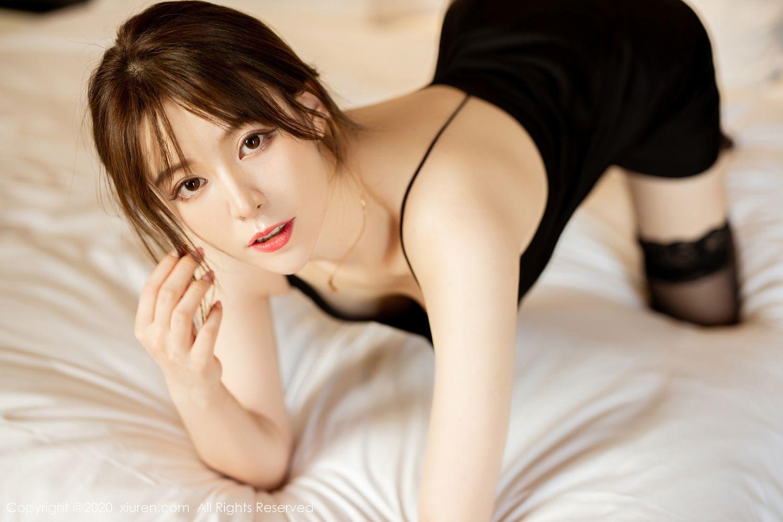 [XiuRen] Vol.2483 Yoo You You 3P, Black Silk, Tall, Xiuren, Yoo You You