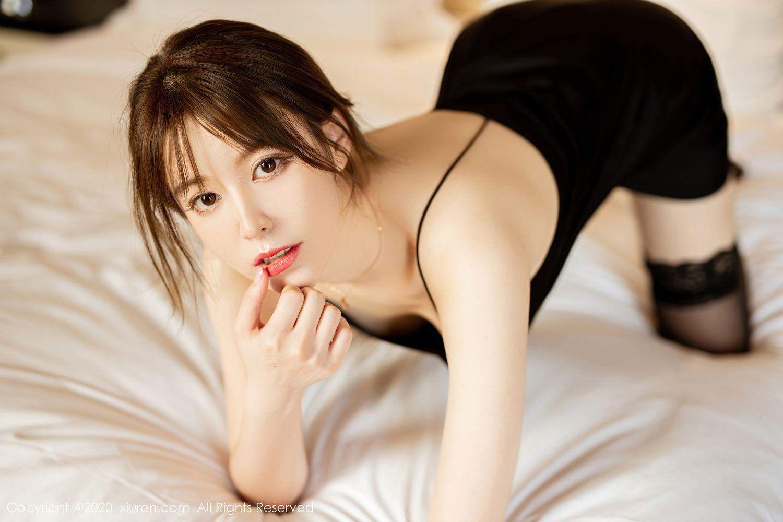 [XiuRen] Vol.2483 Yoo You You 4P, Black Silk, Tall, Xiuren, Yoo You You