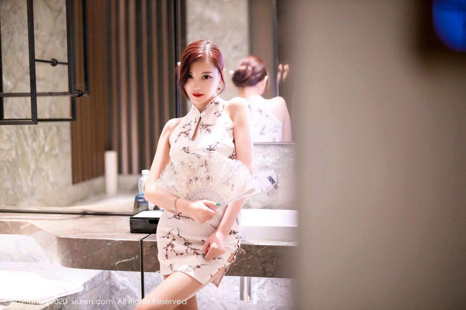 [XiuRen] Vol.2487 Yang Chen Chen 10P, Cheongsam, Tall, Xiuren, Yang Chen Chen