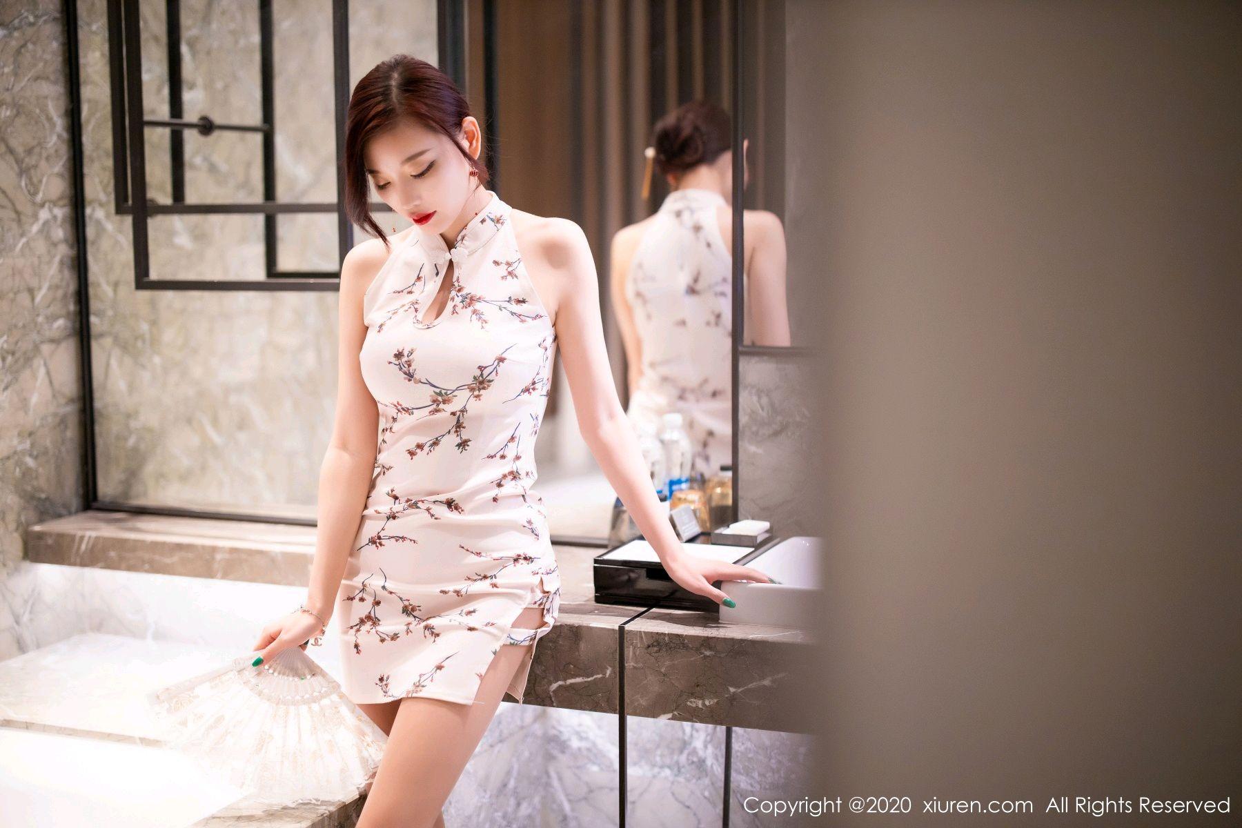 [XiuRen] Vol.2487 Yang Chen Chen 12P, Cheongsam, Tall, Xiuren, Yang Chen Chen