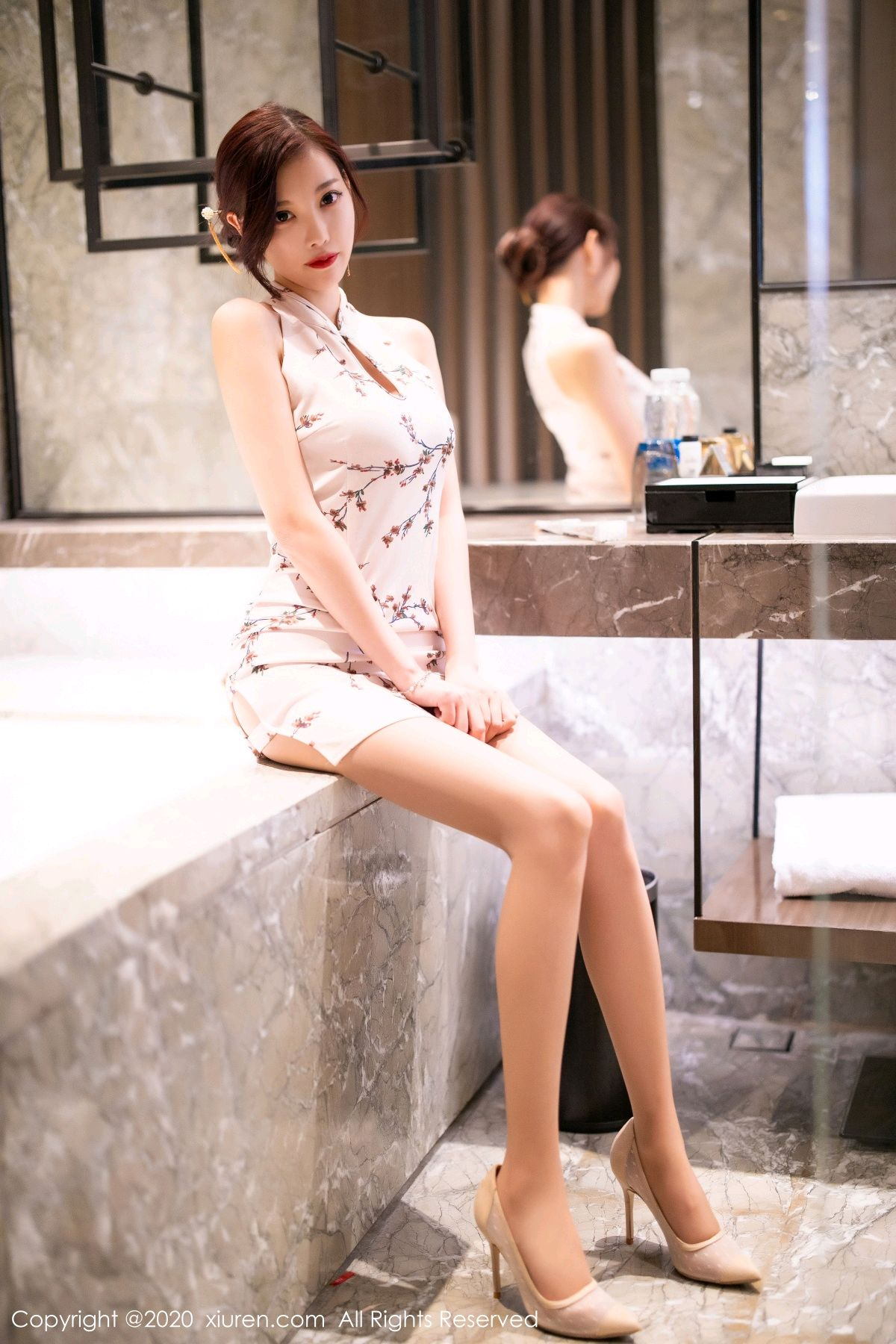 [XiuRen] Vol.2487 Yang Chen Chen 19P, Cheongsam, Tall, Xiuren, Yang Chen Chen