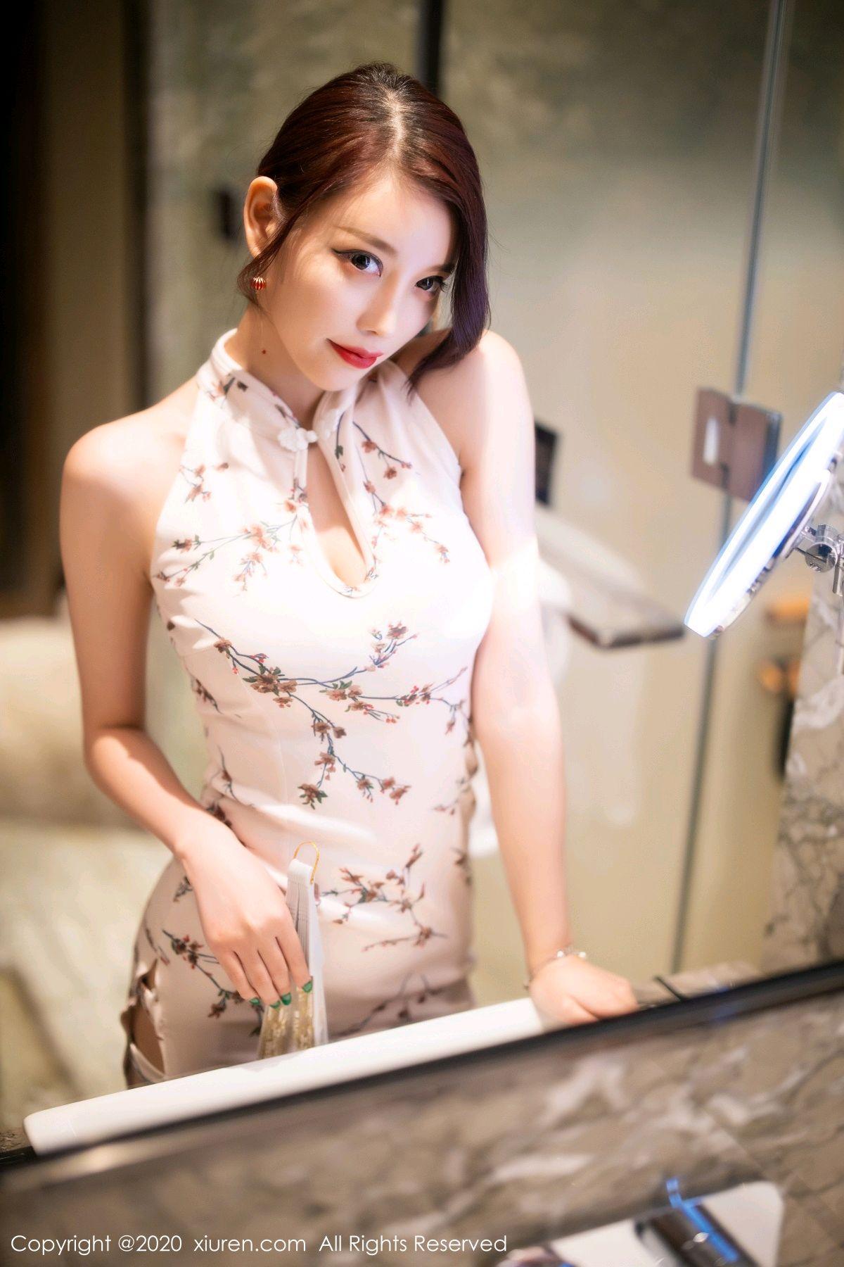 [XiuRen] Vol.2487 Yang Chen Chen 5P, Cheongsam, Tall, Xiuren, Yang Chen Chen
