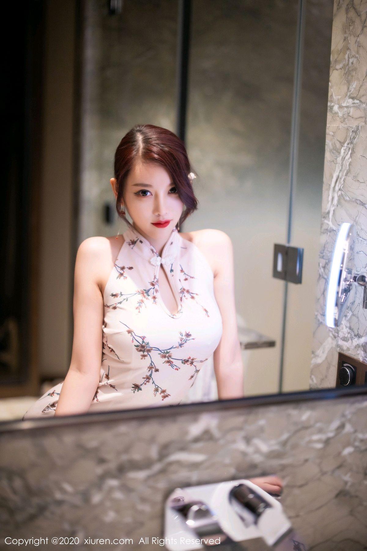 [XiuRen] Vol.2487 Yang Chen Chen 75P, Cheongsam, Tall, Xiuren, Yang Chen Chen
