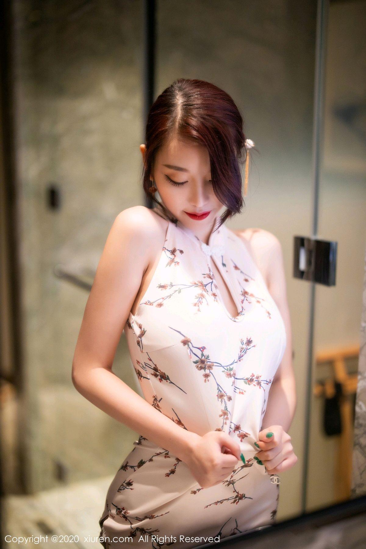 [XiuRen] Vol.2487 Yang Chen Chen 77P, Cheongsam, Tall, Xiuren, Yang Chen Chen