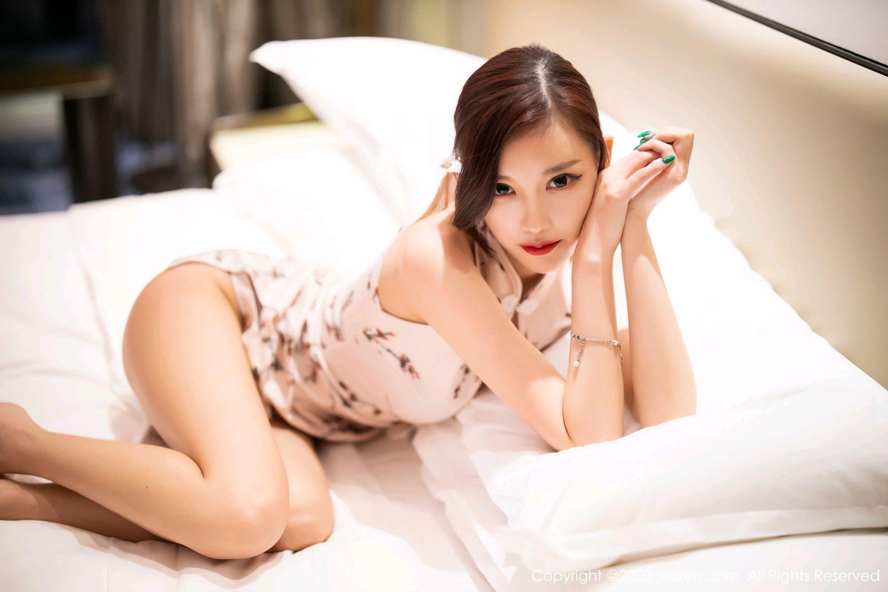 [XiuRen] Vol.2487 Yang Chen Chen 94P, Cheongsam, Tall, Xiuren, Yang Chen Chen