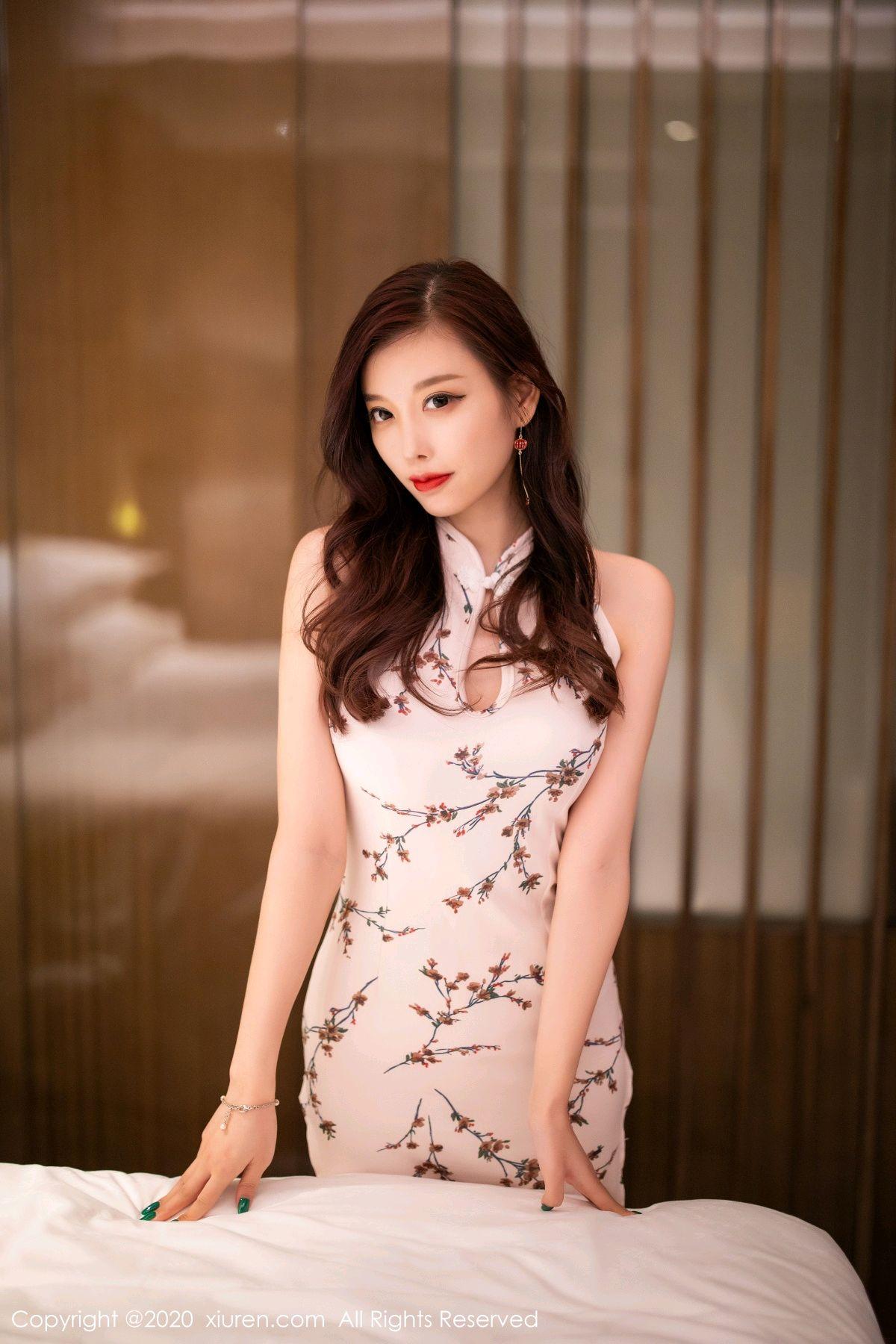[XiuRen] Vol.2487 Yang Chen Chen 97P, Cheongsam, Tall, Xiuren, Yang Chen Chen
