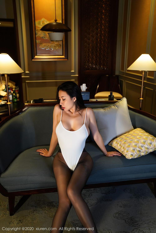 [XiuRen] Vol.2490 Guo Er Victoria 10P, Black Silk, Sexy, Song Guo Er, Xiuren