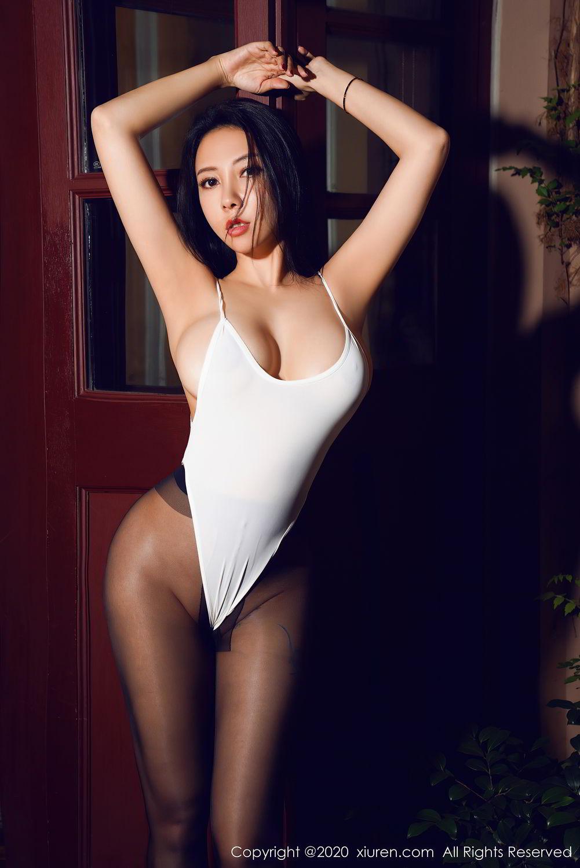 [XiuRen] Vol.2490 Guo Er Victoria 12P, Black Silk, Sexy, Song Guo Er, Xiuren