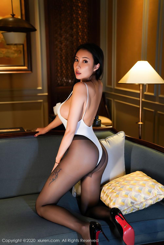 [XiuRen] Vol.2490 Guo Er Victoria 17P, Black Silk, Sexy, Song Guo Er, Xiuren