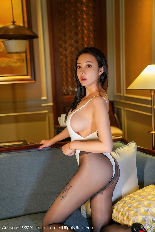 [XiuRen] Vol.2490 Guo Er Victoria 18P, Black Silk, Sexy, Song Guo Er, Xiuren
