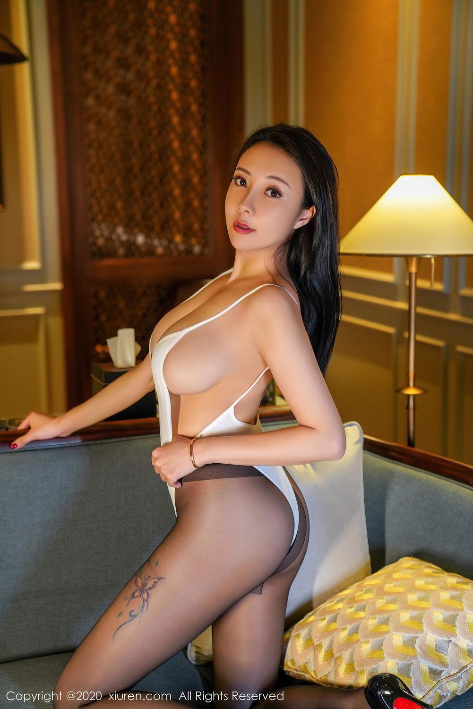 [XiuRen] Vol.2490 Guo Er Victoria 19P, Black Silk, Sexy, Song Guo Er, Xiuren