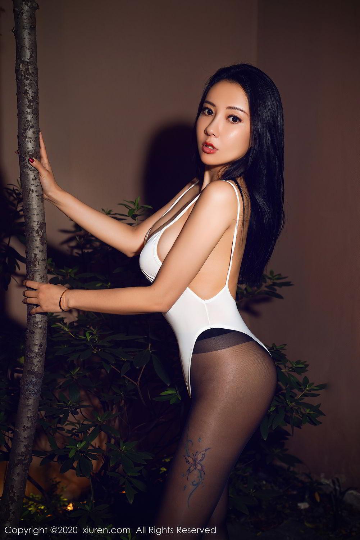 [XiuRen] Vol.2490 Guo Er Victoria 1P, Black Silk, Sexy, Song Guo Er, Xiuren