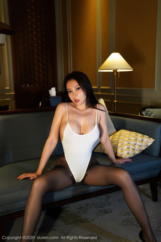 [XiuRen] Vol.2490 Guo Er Victoria 2P, Black Silk, Sexy, Song Guo Er, Xiuren