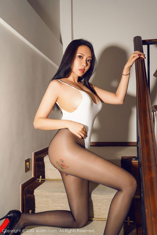[XiuRen] Vol.2490 Guo Er Victoria 33P, Black Silk, Sexy, Song Guo Er, Xiuren