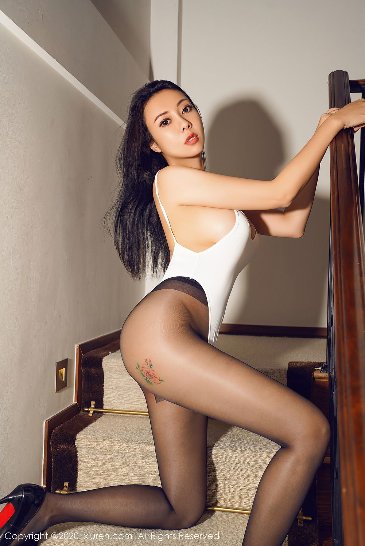 [XiuRen] Vol.2490 Guo Er Victoria 35P, Black Silk, Sexy, Song Guo Er, Xiuren