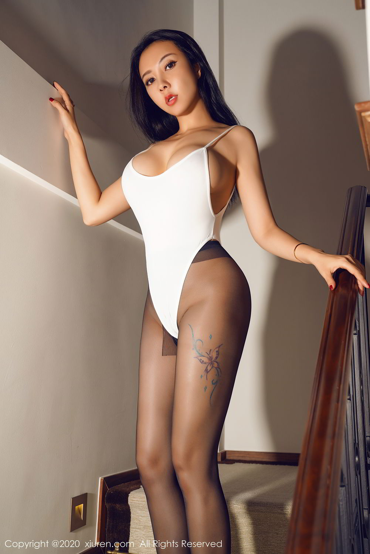 [XiuRen] Vol.2490 Guo Er Victoria 36P, Black Silk, Sexy, Song Guo Er, Xiuren