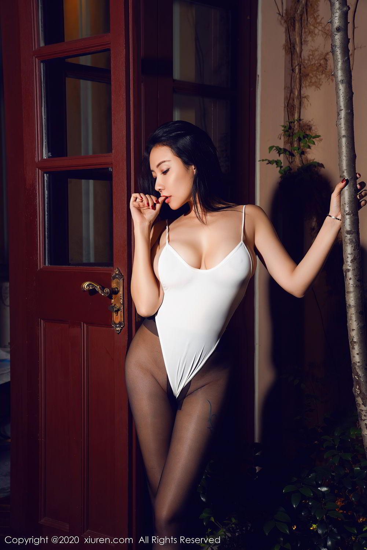 [XiuRen] Vol.2490 Guo Er Victoria 38P, Black Silk, Sexy, Song Guo Er, Xiuren