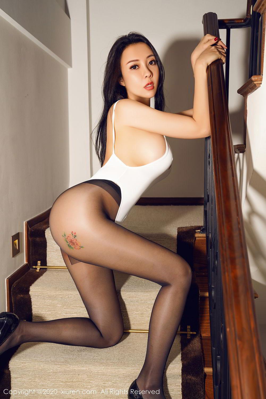 [XiuRen] Vol.2490 Guo Er Victoria 39P, Black Silk, Sexy, Song Guo Er, Xiuren