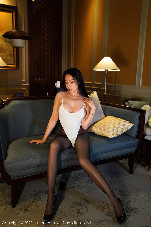 [XiuRen] Vol.2490 Guo Er Victoria 41P, Black Silk, Sexy, Song Guo Er, Xiuren