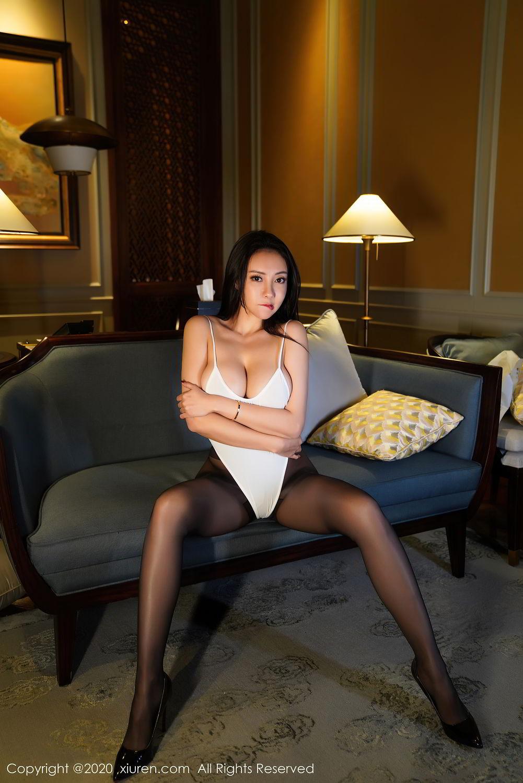 [XiuRen] Vol.2490 Guo Er Victoria 5P, Black Silk, Sexy, Song Guo Er, Xiuren