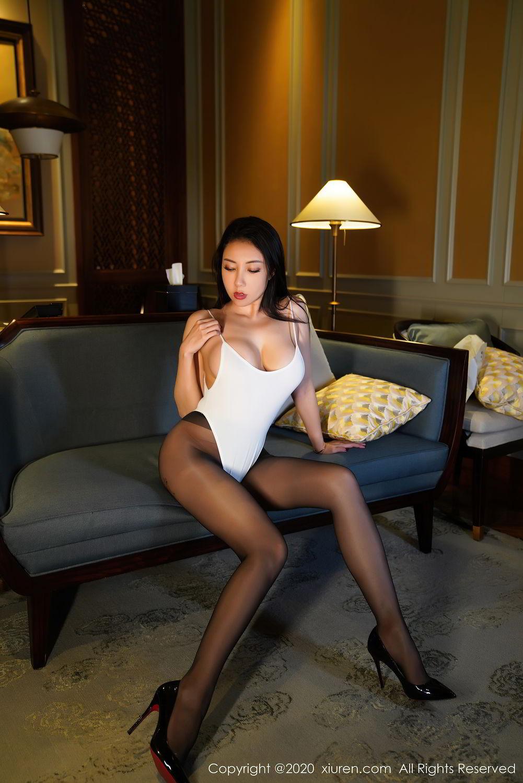 [XiuRen] Vol.2490 Guo Er Victoria 6P, Black Silk, Sexy, Song Guo Er, Xiuren