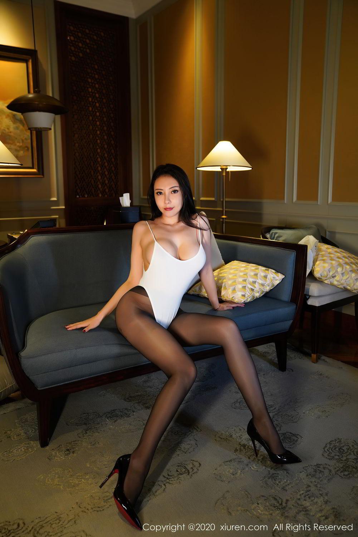 [XiuRen] Vol.2490 Guo Er Victoria 7P, Black Silk, Sexy, Song Guo Er, Xiuren