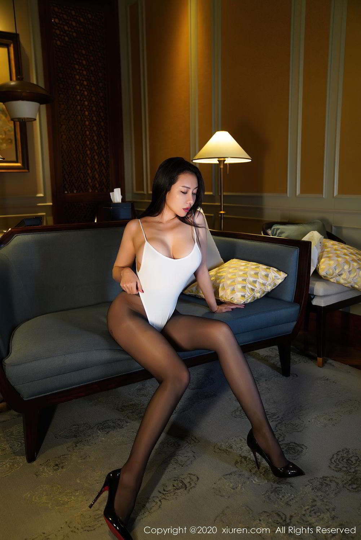 [XiuRen] Vol.2490 Guo Er Victoria 8P, Black Silk, Sexy, Song Guo Er, Xiuren