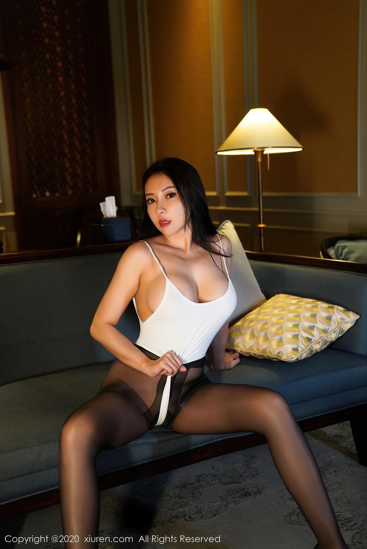 [XiuRen] Vol.2490 Guo Er Victoria 9P, Black Silk, Sexy, Song Guo Er, Xiuren