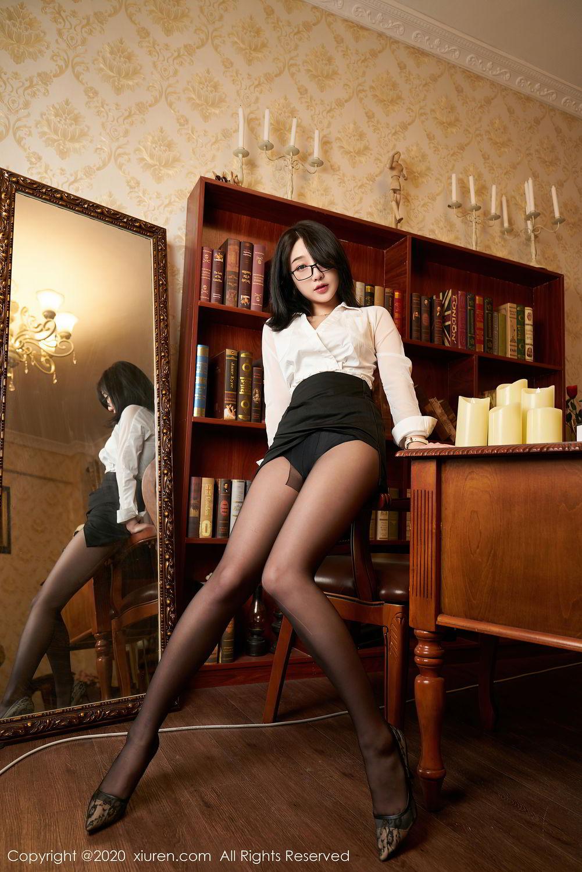 [XiuRen] Vol.2492 Jiu Yue Sheng 26P, Black Silk, Tall, Underwear, Xiao Jiu Yue, Xiuren