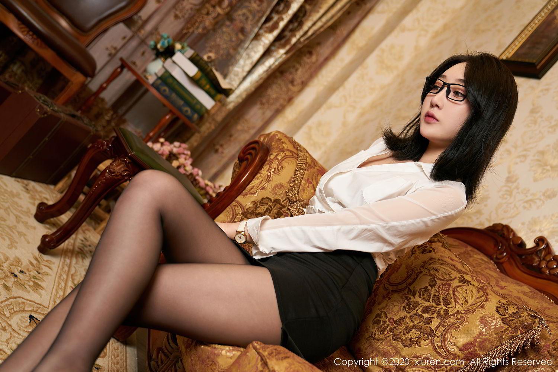 [XiuRen] Vol.2492 Jiu Yue Sheng 3P, Black Silk, Tall, Underwear, Xiao Jiu Yue, Xiuren