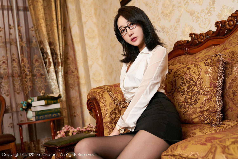 [XiuRen] Vol.2492 Jiu Yue Sheng 4P, Black Silk, Tall, Underwear, Xiao Jiu Yue, Xiuren