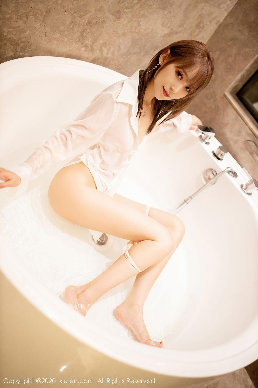 [XiuRen] Vol.2495 Zhou Mu Xi 10P, Bathroom, Slim, Wet, Xiuren, Zhou Mu Xi