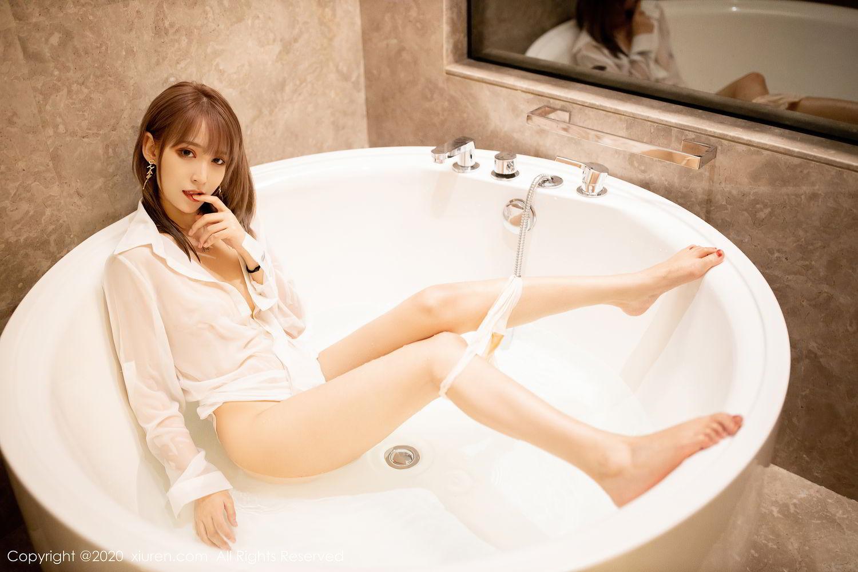 [XiuRen] Vol.2495 Zhou Mu Xi 11P, Bathroom, Slim, Wet, Xiuren, Zhou Mu Xi