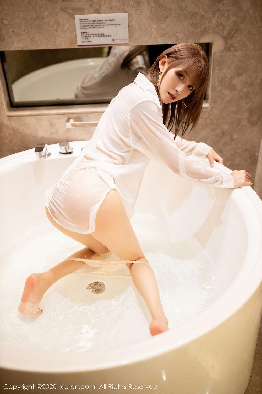 [XiuRen] Vol.2495 Zhou Mu Xi 14P, Bathroom, Slim, Wet, Xiuren, Zhou Mu Xi