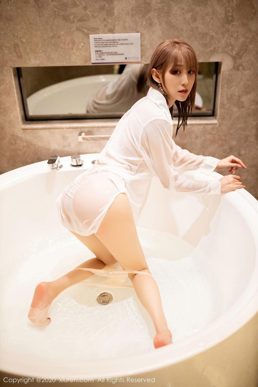 [XiuRen] Vol.2495 Zhou Mu Xi 16P, Bathroom, Slim, Wet, Xiuren, Zhou Mu Xi
