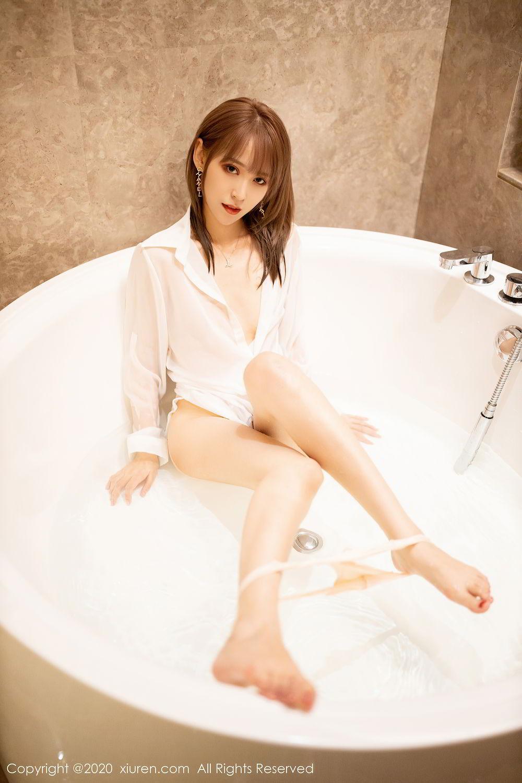 [XiuRen] Vol.2495 Zhou Mu Xi 19P, Bathroom, Slim, Wet, Xiuren, Zhou Mu Xi