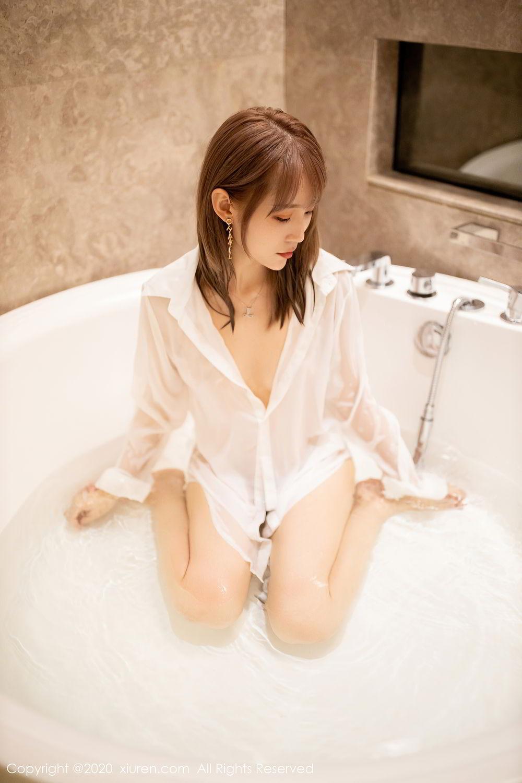 [XiuRen] Vol.2495 Zhou Mu Xi 32P, Bathroom, Slim, Wet, Xiuren, Zhou Mu Xi