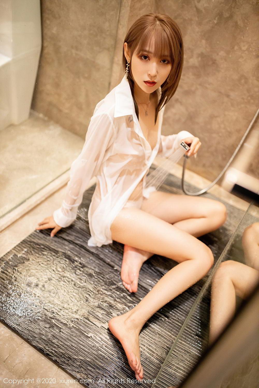 [XiuRen] Vol.2495 Zhou Mu Xi 34P, Bathroom, Slim, Wet, Xiuren, Zhou Mu Xi