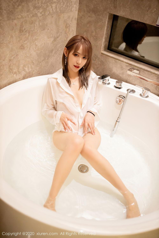 [XiuRen] Vol.2495 Zhou Mu Xi 38P, Bathroom, Slim, Wet, Xiuren, Zhou Mu Xi