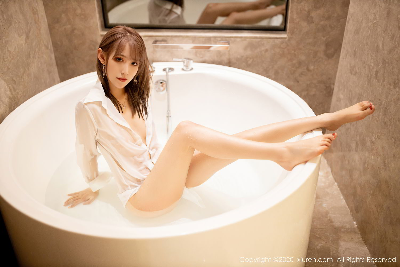 [XiuRen] Vol.2495 Zhou Mu Xi 40P, Bathroom, Slim, Wet, Xiuren, Zhou Mu Xi