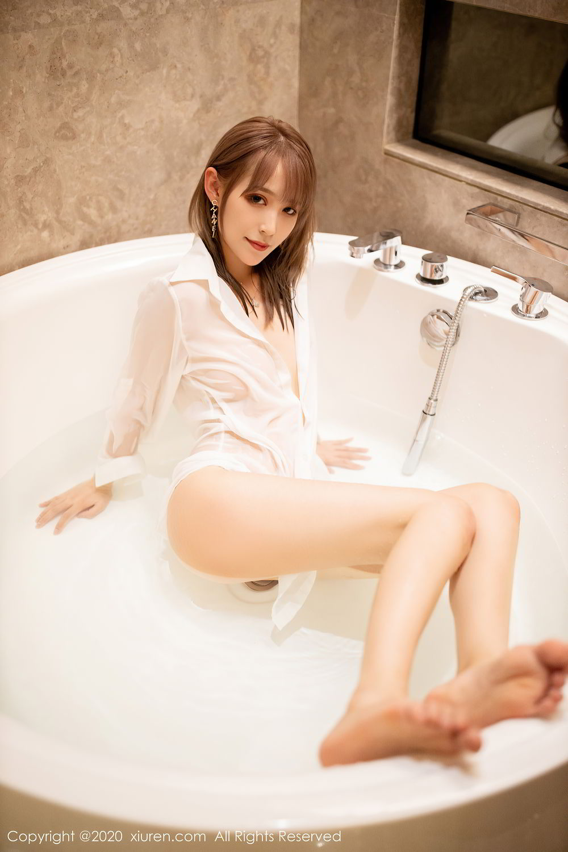 [XiuRen] Vol.2495 Zhou Mu Xi 44P, Bathroom, Slim, Wet, Xiuren, Zhou Mu Xi