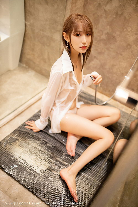 [XiuRen] Vol.2495 Zhou Mu Xi 45P, Bathroom, Slim, Wet, Xiuren, Zhou Mu Xi