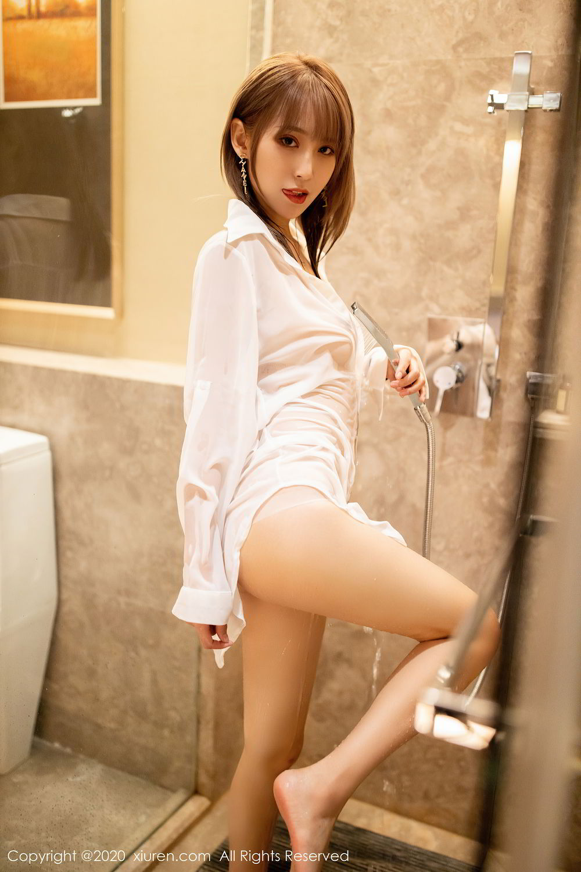 [XiuRen] Vol.2495 Zhou Mu Xi 6P, Bathroom, Slim, Wet, Xiuren, Zhou Mu Xi