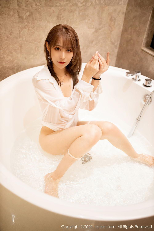 [XiuRen] Vol.2495 Zhou Mu Xi 9P, Bathroom, Slim, Wet, Xiuren, Zhou Mu Xi