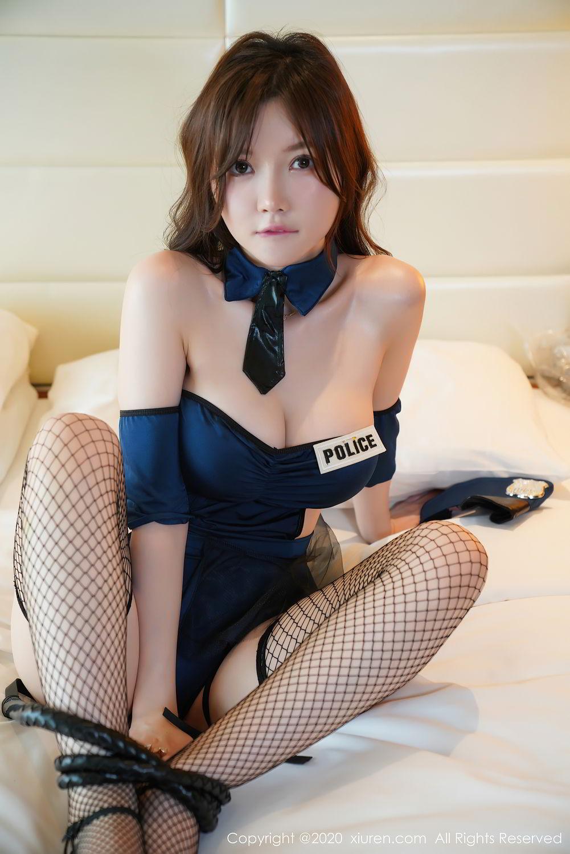 [XiuRen] Vol.2496 Nuo Mei Zi 44P, Baby Face Big Boobs, Black Silk, Mini Da Meng Meng, Policewoman, Xiuren, 肉晴
