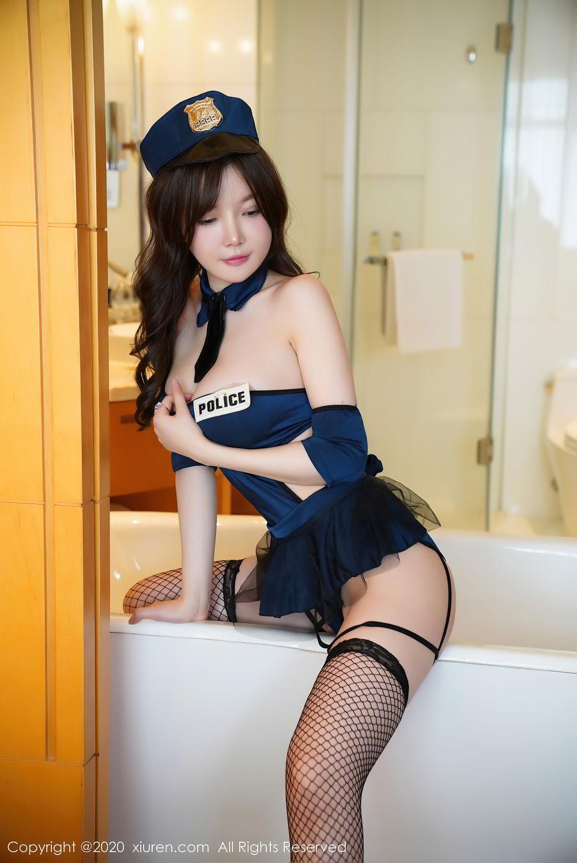 [XiuRen] Vol.2496 Nuo Mei Zi 4P, Baby Face Big Boobs, Black Silk, Mini Da Meng Meng, Policewoman, Xiuren, 肉晴