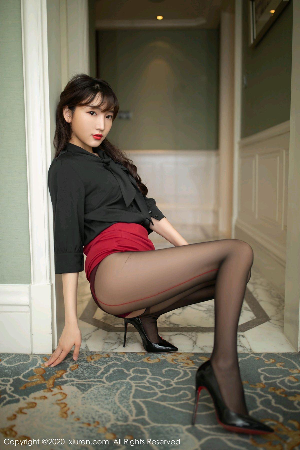 [XiuRen] Vol.2498 Lu Xuan Xuan 16P, Black Silk, Lu Xuan Xuan, Tall, Underwear, Xiuren