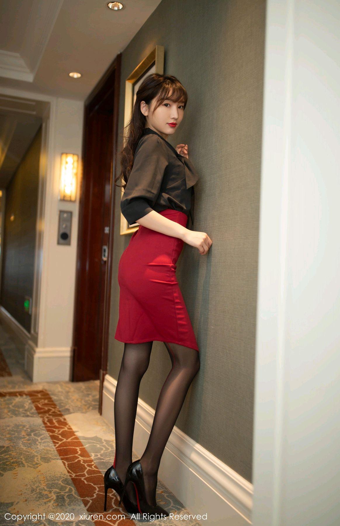 [XiuRen] Vol.2498 Lu Xuan Xuan 1P, Black Silk, Lu Xuan Xuan, Tall, Underwear, Xiuren