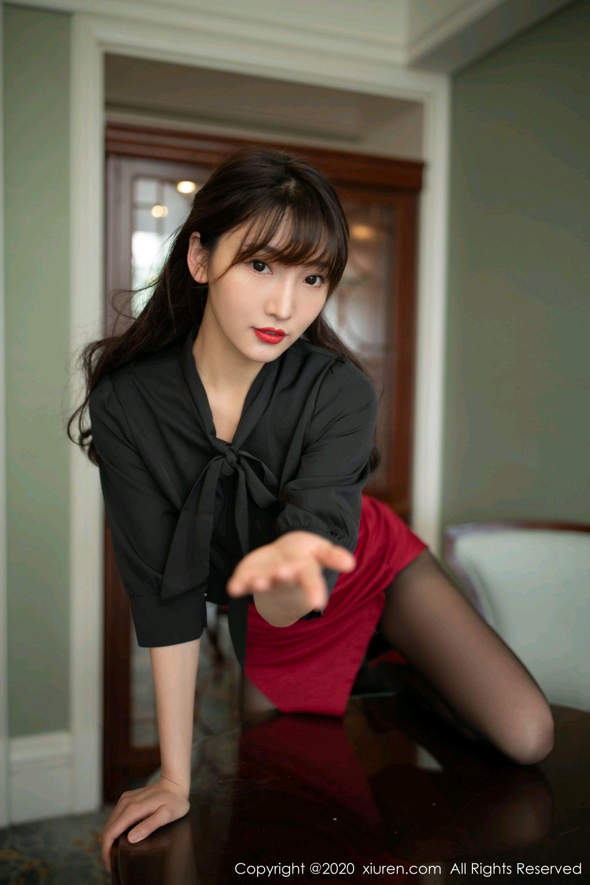[XiuRen] Vol.2498 Lu Xuan Xuan 21P, Black Silk, Lu Xuan Xuan, Tall, Underwear, Xiuren