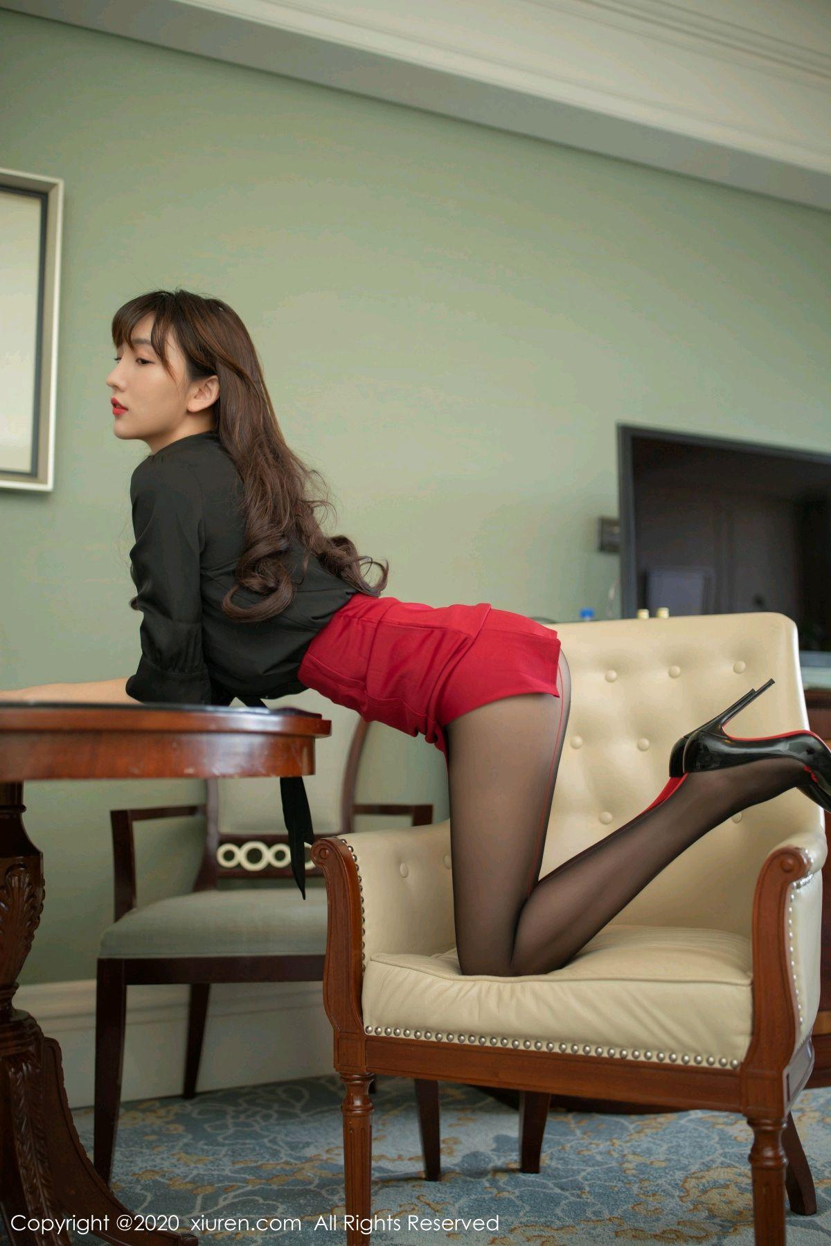 [XiuRen] Vol.2498 Lu Xuan Xuan 25P, Black Silk, Lu Xuan Xuan, Tall, Underwear, Xiuren